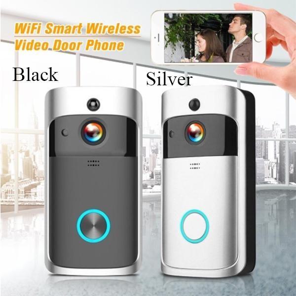 WiFi Wireless Doorbell Video Two-Way Talk Smart PIR Door Bell Security Camera