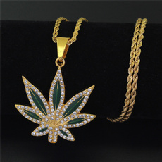 goldplated, Punk jewelry, DIAMOND, leaf