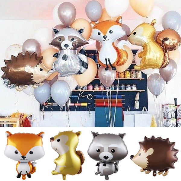 decoration, foilballoon, birthdayballoon, woodland