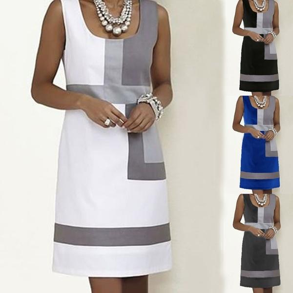 Summer, Shift Dress, Ladies Fashion, knee