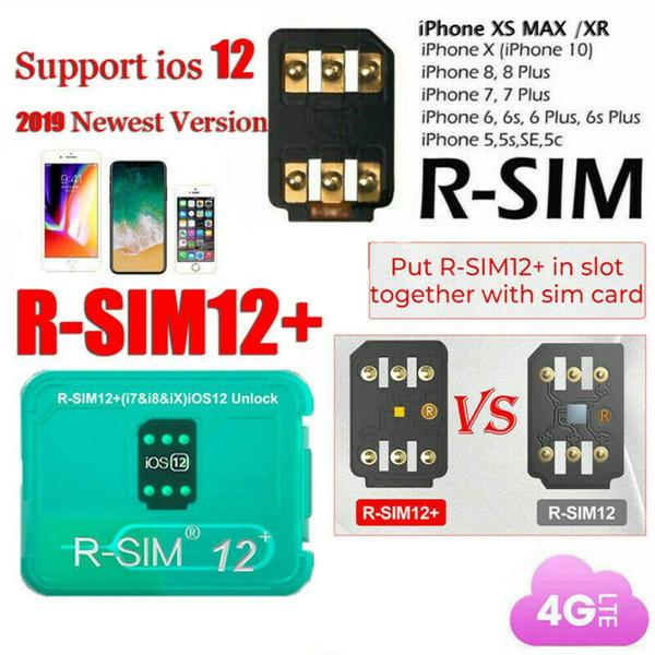 Iphone 7 Sim Karte Entsperren.Rsim 12 Plus 2019 R Sim Nano Unlock Card Fits Iphone X 8 7 6 6s 4g Ios 12 3
