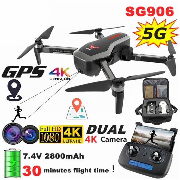 Future Technology 2020 SG906 5G WiFi Dual GPS Drone with Camera + GPS Smart  Follow + Dual 4K Wide-angle FPV Camera + Face Recognition + Gesture