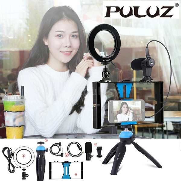 Selfie Ring LED Light with Phone//Microphone Holder for Live Or Makeup