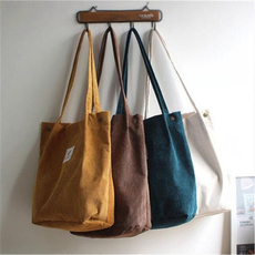 Shoulder Bags, Canvas, portable, Totes