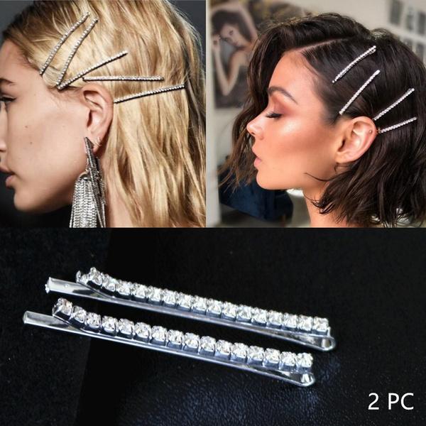 Korea Style Hair Clips Crystal Hairgrip Metal Barrette Rhinestones Hairpins