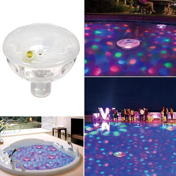 Floating Underwater LED Disco Light Glow Show Swimming Pool Hot Tub Spa Lamp