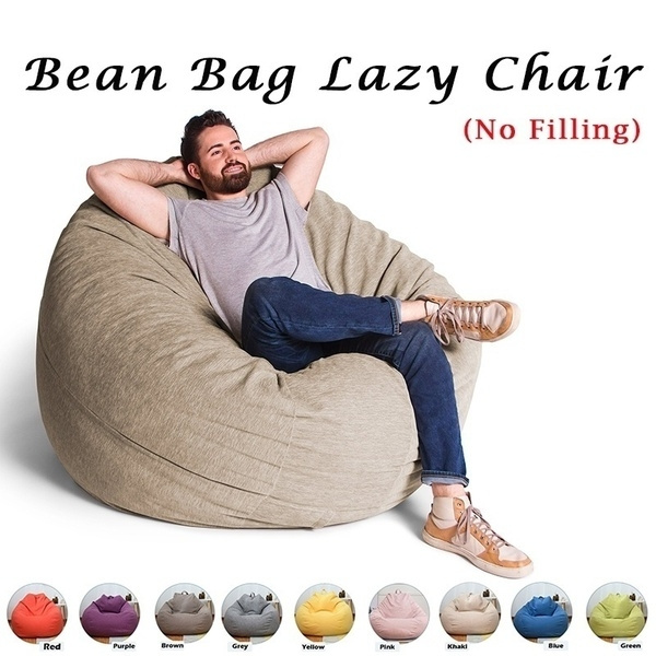 Pleasant 2019 Fashion High Quality S M L 9 Colors Stylish Bedroom Furniture Solid Color Single Bean Bag Lazy Linen Sofa Cover Diy Filled Inside No Filling Bralicious Painted Fabric Chair Ideas Braliciousco