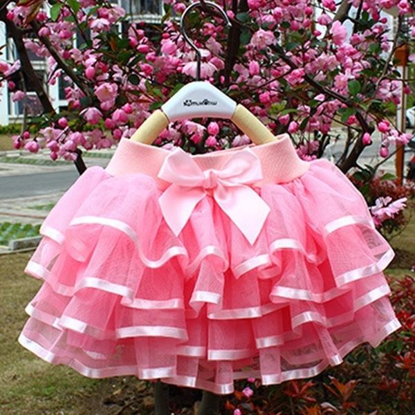 Mini, girlsdanceshowskirt, bowknot, girlsminiskirt
