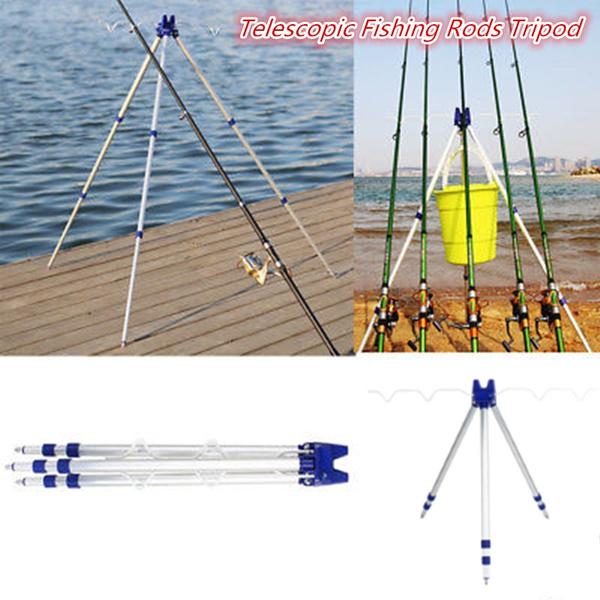 Fishing rod stainless steel tripod stand rest sea beach fishing fr su