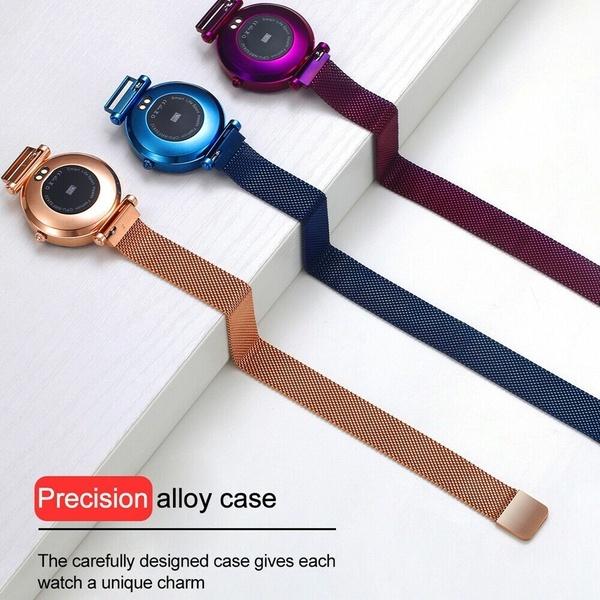 Smart Watch Women IP68 Waterproof Heart Rate Monitoring Stainless Steel Smart Watch Fitness Bracelet Smartwatch