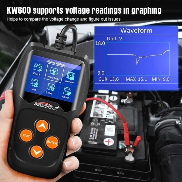 New Car Battery Tester 12v Professional Automotive Battery Load