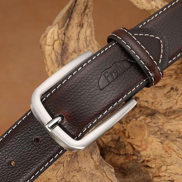 Belts Cummerbunds Leather Belt Men Male Genuine Leather Strap Pin Buckle