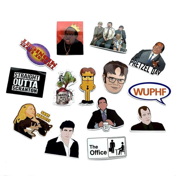 Office Tv Show Stickers 90s Art Print