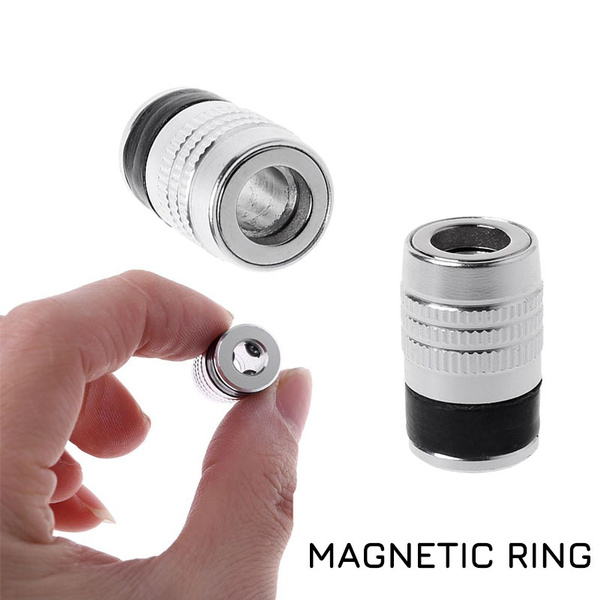 """1//4/"""" Magnetic Ring 6.35mm Metal Strong Screw Electric Phillips Screwdriver Bits"""