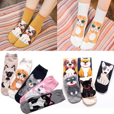 Hosiery & Socks, fashionablefemalesock, Cotton Socks, cartoonanimalsock