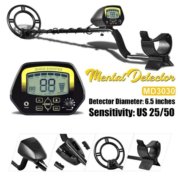 2 Style Metal Detector MD3030 Quick Shooter Lightweight Professional Detectors Underground Treasure Hunter LCD Display Gold And Jewelry Hunting Under