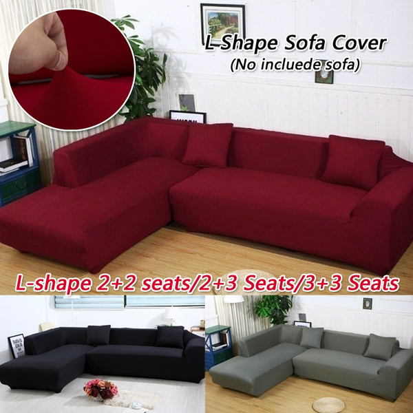 Marvelous L Shape Elastic Fabric Sofa Cover Protective Case Sectional Corner Couch Covers Set Decor Slipcover Pdpeps Interior Chair Design Pdpepsorg