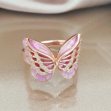 Sterling, Fashion, gold, pinkring