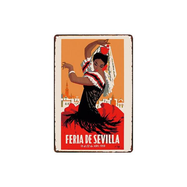 Metal Tin Sign flamenco dance Decor Bar Pub Home Vintage Retro Poster