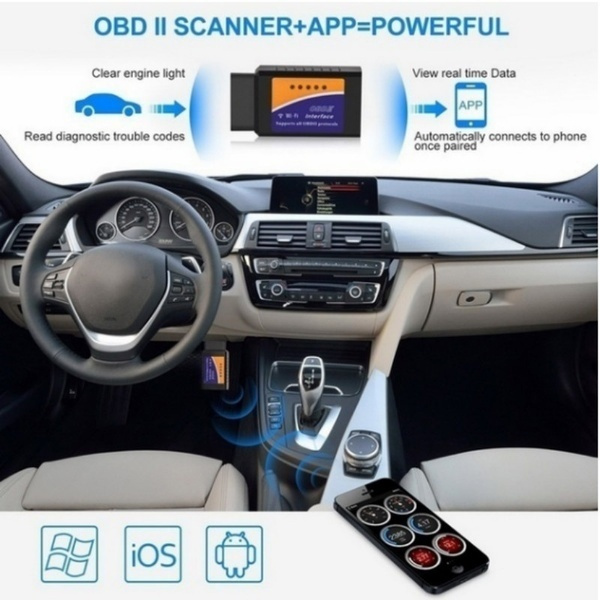 WIFI Bluetooth ELM327 Scanner Wireless OBD2 Auto Scanner Adapter WIFI  Scanner Scan Tool for IOS&Android V1 5 BHT