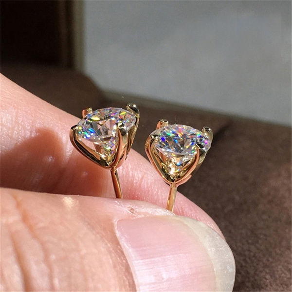 1 25ct Moissanite Simulated 18k Gold