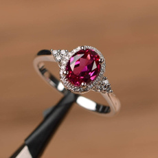 platinum, whitegoldring, Engagement Wedding Ring Set, ruby