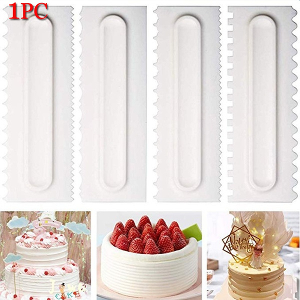 Cake Decorating Comb Cake Scraper Smoother Cream Decorating Pastry Icing Comb Fondant Spatulas Baking Pastry Tools