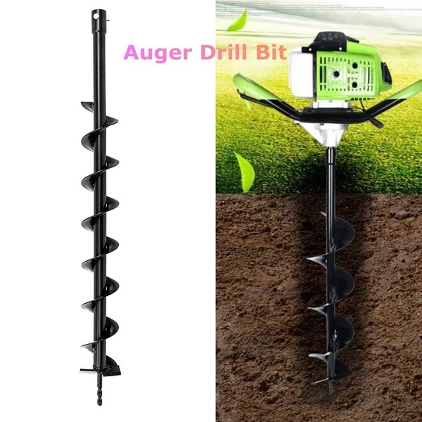 8/'/' 9/'/' 12/'/' Earth Auger Drill Bit Fence Borer For Garden Post Hole Digger Tool
