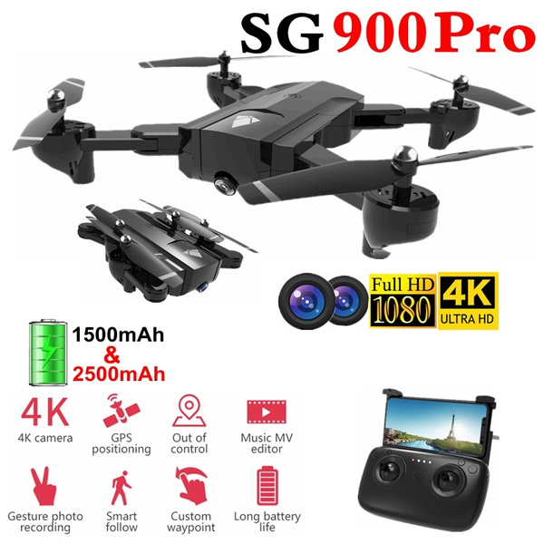 2019 Newest SG900 Drones with Long Flight Time Rc Drone Full FPV Wide-Angle  Camera + 360° Rotation + V-Sign + Gesture Video + Real-Time Transmission +