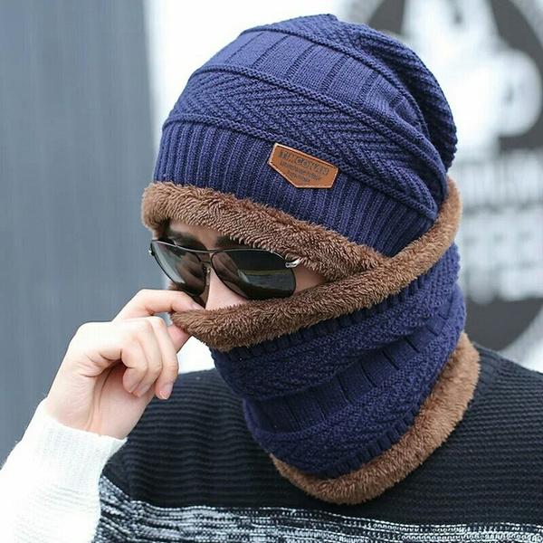 Skullies Beanies Winters Fashion Caps Warm Baggy Mask Autumn Beanie Knitted