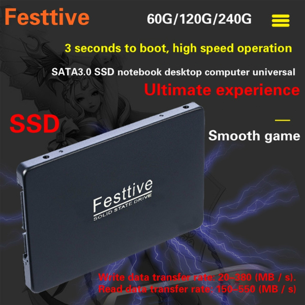 Festtive new upgrade SSD solid state drive SATA3 interface 60GB
