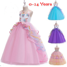 rainbow, Princess, Dresses, Dress