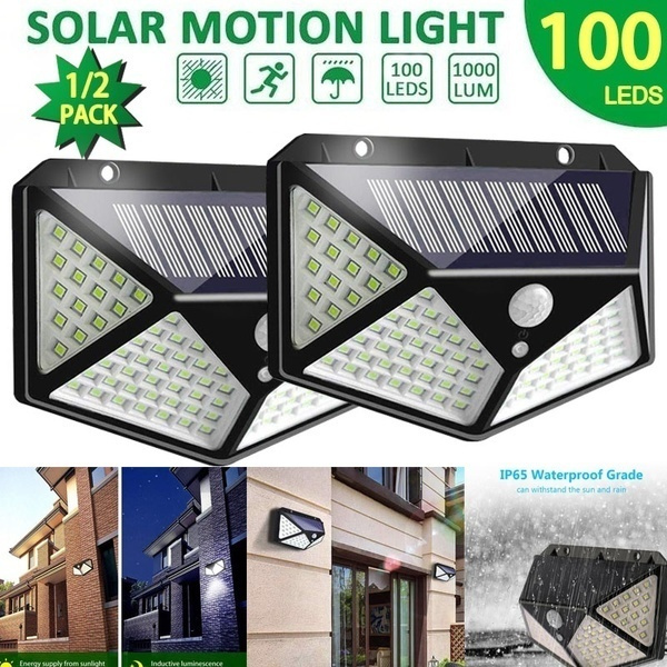 1x LED Solar Power Motion Sensor Light-operated Security Lamp Outdoor Wall Light