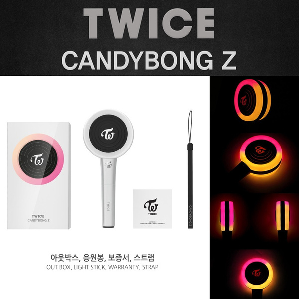 (NO BLUETOOTH) Kpop TWICE Lightstick Ver 2 CANDYBONG Z Concert Lamp Hiphop  Lightstick Fans Collection Fluorescent Stick Gift