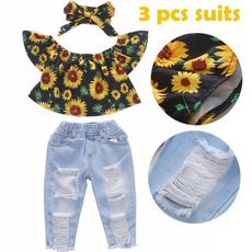 Summer, Two-Piece Suits, pantssetsforgirl, flowerprinttop
