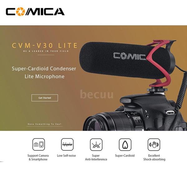 Comica CVM-V30 Lite Super-Cardioid Condenser Video Mic for Nikon DSLR Camera