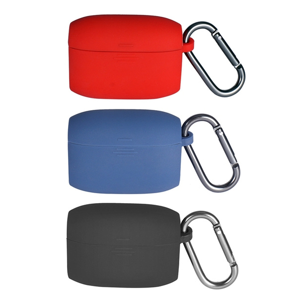 Silicone Protective Case Cover Portable Shell Case With Anti Lost Hook For Jabra Elite 65t Wish