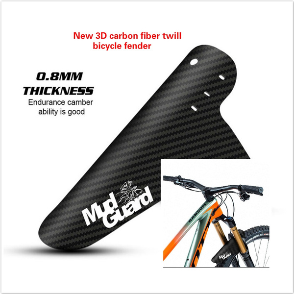 Bicycle Mudguard 3D Carbon Fiber MTB Cycling Twill Rear Wings Bike Accessories