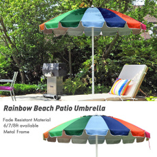 umbrellasshade, rainbowbeachumbrella16rib, Outdoor, Umbrella