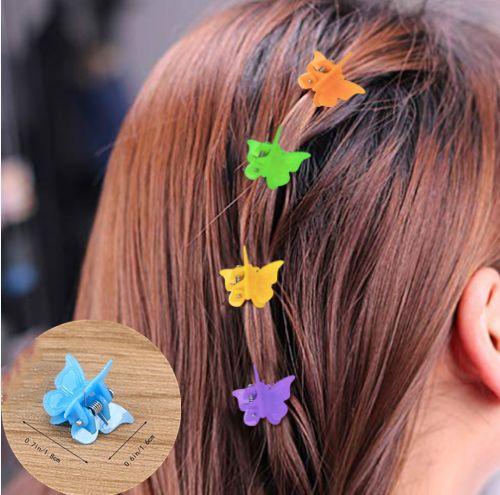 Women Candy Color Mini Claw Hair Clips Hair Claw Clip Flower Hairpins
