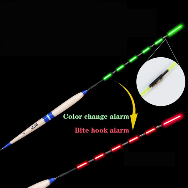1 PC Smart Fishing Float Fish LED Light Color-Changing Automatic High Quality