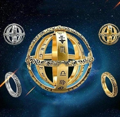 Couple Rings, astronomicalball, Jewelry, constellationring
