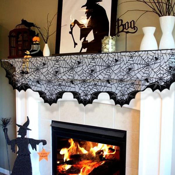 fireplacetopper, lace scarf, Bat, Fashion