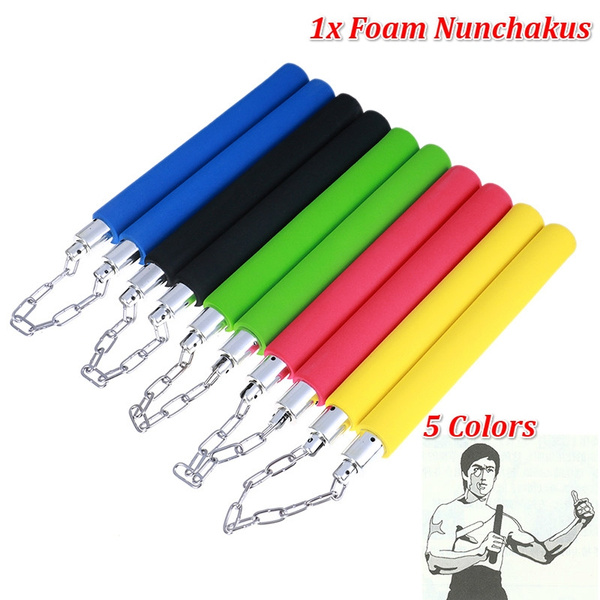 Karate Martial Arts Training Foam Nunchaku Nunchucks Stick Practice Weapon Toy