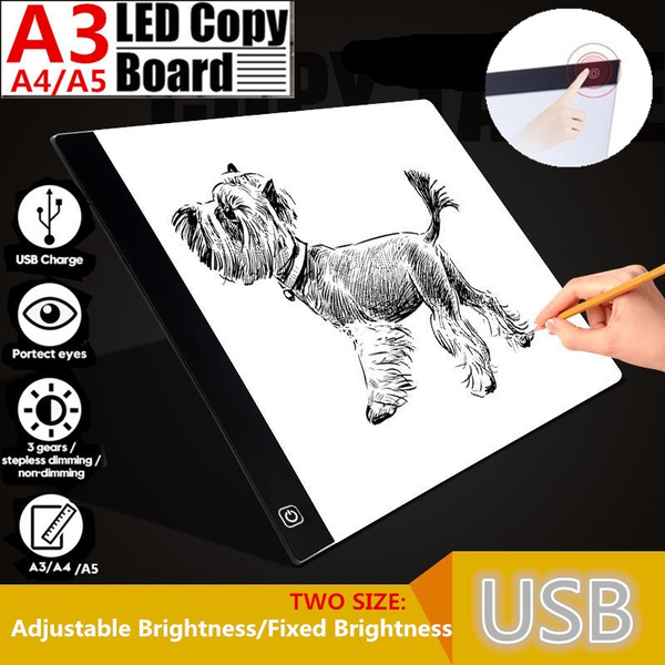 A3//A4//A5 LED Light Drawing Tablet Painting Tracing Board Stencil Pad Adjustable