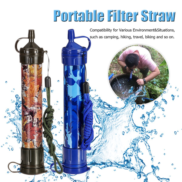Travel Water Filter Purifier Cleaner Outdoor Hiking Camping Survival Emergency