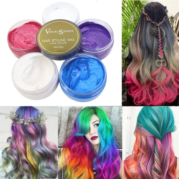 Disposable 5 Colors Hair Chalk Hair Dye Mascara Non Toxic Temporary Color Salon Diy Hair Dye Hair Dye Cream Styling Tools