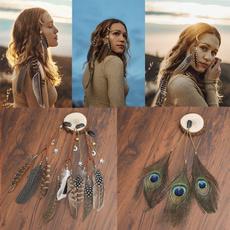 Women, Tassels, Combs, featherheadband