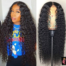 Black wig, wig, fashion wig, human hair