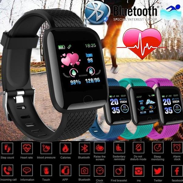 1.3inch Color Screen Smart Bracelet IP67 Waterproof Sport Smart Watch Heart  Rate Blood Pressure Sleep Fitness Wristband Pedometer Call SMS Sedenetary